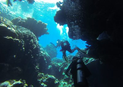Padi Advanced Open Water course students
