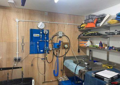 dive equipment servicing